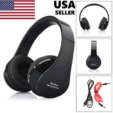 Foldable Wireless Bluetooth Headset Stereo Headphone Earphone for Phone PC ee