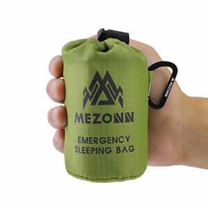 PE Emergency Sleeping Bag Survival Bivy Sack Space Blanket Green 1 Pack - New