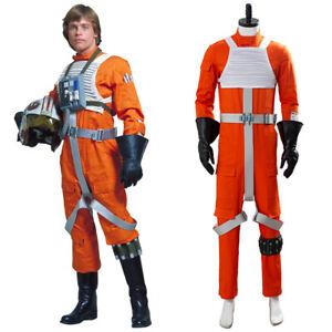 Star Wars X-WING Rebel Pilot Jumpsuit Cosplay Costume Halloween Suit