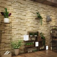 10m Modern 3D Brick Stone Wallpaper Bedroom Mural Roll Wall Background Vintage