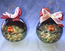 Vintage 1995 Christmas Coca-Cola Coke Collectible Polar Bear Round Ball Ornament