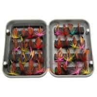 32pcs/set Fly Fishing Lure Artificial Insect Bait Trout Hooks Tackle with Case