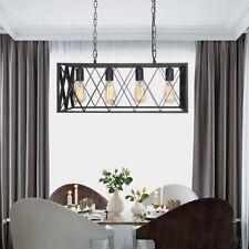 Kitchen Island Light 4-Light Ceiling Hanging Light Fixture Black Chandelier US