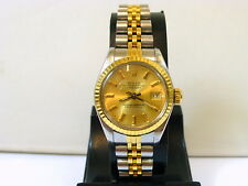 1986 LADIES 18K GOLD/STEEL ROLEX DATEJUST REF.69163 IN EXCELLENT CONDITION