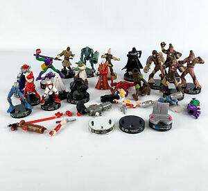 Attacktix Star Wars Marvel Mixed Lot of Broken Damaged Battle Game Figures