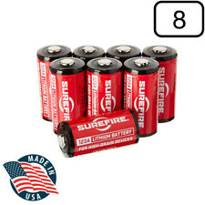 Surefire SF123A 123A 3-Volt Lithium Batteries 8 Pack
