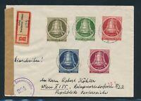 BERLIN 1951, Mi. 85 + 87 Brief, portorichtiger Flugbrief nach USA!! Mi. 130,--!!