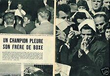 E- Coupure de Presse Clipping 1956 (2 pages) Boxe mort de Emile Chemama 31.5.17