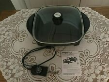 "Presto 11"" Electric Skillet With Glass Cover - Model #06626 - In Nice Condition!"