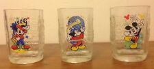 Walt Disney World McDonalds Millenium, Set of 3 Collector Glasses.