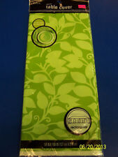 Kiwi & Celery Leaf Green Solid Color Floral Party Decoration Plastic Tablecover