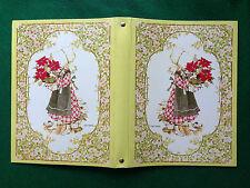HOLLY HOBBIE Copertina ad anelli vintage x fogli quaderno scuola  Mondadori 1979