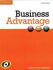 Cambridge BUSINESS ADVANTAGE Teacher's Book ADVANCED by Jonathan Birkin @NEW@