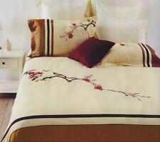 3 Pce BLOSSOM BIRDS Cream Embroidered Quilt Duvet Doona Cover Set - KING