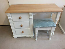 REGENCY PAINTED SINGLE DRESSING TABLE SOLID PINE SOLID OAK HAND MADE BESPOKE