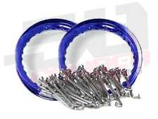 "Heavy Duty Spoke kit/w Rim Aluminum Wheels Honda XR 50 CRF 50 pitbike 10"" Blue"