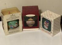 Vintage Hallmark Christmas Ornament Lot Of 3 Grandparents Grandchild 1984 1985