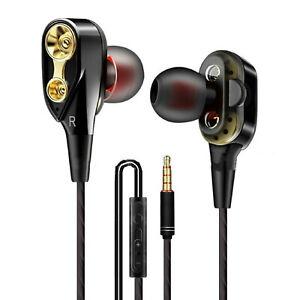 In-Ear-Kopfhörer mit extra Bass und dynamischem Klang kompatibel mit 3,5mm Klink