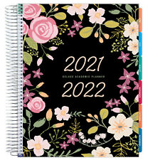 Deluxe 2021 2022 Planner 85x11 Black Floral