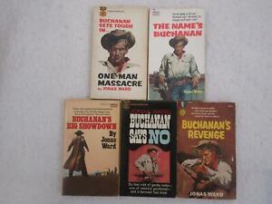 Lot of 5 Jonas Ward Fawcett Gold Medal Vintage Mass Market Paperbacks BUCHANAN