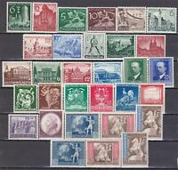 3rd Reich 1939 -1942   31 superb MNH stamps!  All sets complete!