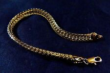 "9K Yellow Gold Filled 6mm Wide 8"" Bracelet  & Lobster Clasp"