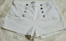Almost Famous Size Juniors 11 White nautical sailor shorts Retro Buttons P7