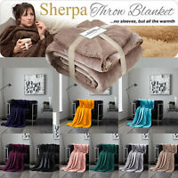 Soft Warm Sherpa Throw Blanket Bedspread for Bed Sofa Double & King