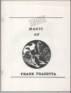 More Magic of FRANK FRAZETTA #1, Black White Fanzine, VF/NM, 1970's
