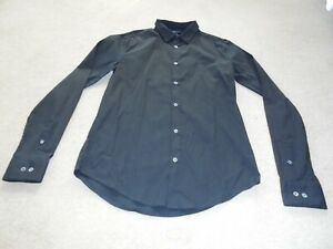Mens Emporio Armani Black Slim Fit Shirt - Size Medium