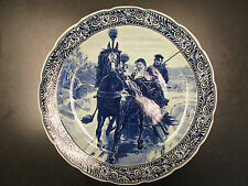 LARGE ROYAL SPHINX MAASTICHT PLATE CHARGER. DEFLT HOLLAND **