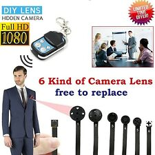 Mini Spy Camera HD 1080P Hidden DVR Video Motion Activated + Remote Control