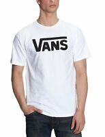 VANS New Men's Classic Print Logo T-Shirt Print Top Tee S M L XL XXL White