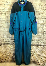 Vintage Columbia Mens XL 1pc Full Body OMNI TEC Snowsuit Snow Ski Waterproof 80s