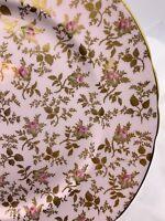 Tuscan Fine English Bone China SUNSHINE England CHOICE Pink Roses Gold Leaves