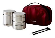 Lock & Lock Stainless Steel Insulated Lunch Box  Bag Chopsticks 350ml LHC8012