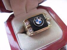 """Superb NEW Mens """"BMW"""" CREST Gold Ring"""