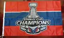 Washington Capitals 2018 Stanley Cup Champions 3x5 Flag. US seller!!!
