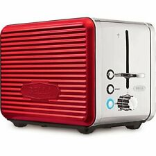 Bella Linea Collection Red & Chrome 2-Slice Toaster with Extra Wide Slots