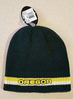 NWT Top of the World Adult OREGON DUCKS Reversible Knit Hat / Ski Cap  #150216