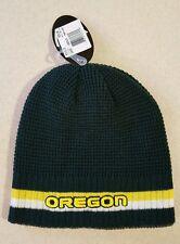 timeless design 1ff9f 8d130 NWT Top of the World Adult OREGON DUCKS Reversible Knit Hat   Ski Cap   150216