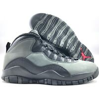 Nike Air Jordan Retro 10 X Shadow Dark Grey Red Black 310805-002 Men's 11