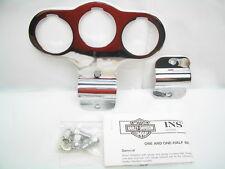 """1.5"""" Triple Gauge Mounting Bracket Kit 67492-04 Softail Springer FXSTS FLSTS"""