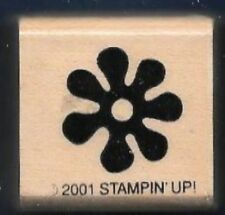 small FLOWER POWER DAISY Bubble Design Groovy Stampin Up! 2001 wood RUBBER STAMP