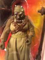 Star Wars 1996 POTF Tusken Raider figure with Gaderffii Stick Mint Green Card