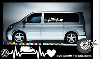 VW HEARTBEAT T4 S VAN CAMPER Car/Window/Van VW VAG  Vinyl Decal Sticker 1