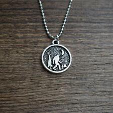 1pcs Sasquatch Bigfoot big foot with the moon Necklace I believe Mythology Scien