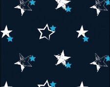 Jersey Stoff Dunkelblau Hellblau Grün Sterne Fabric Junge Mädchen Kinderstoff