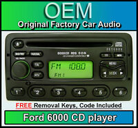 Ford Mondeo CD player radio stereo with Code and Removal Keys Ford 6000 headunit