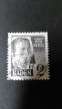 FRANCE 1947 OCCUPATION ALLEMAGNE BADE, timbre 1 HEBEL oblitéré, VF STAMP